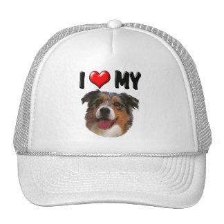 I Love My Aussie Trucker Hat
