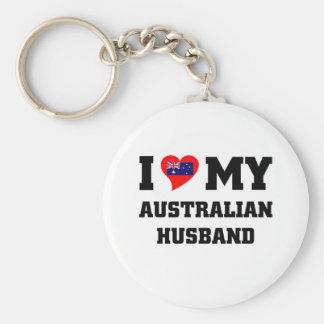 I LOVE MY AUSTRAILIAN HUSBAND KEYCHAIN