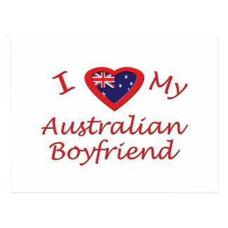 I Love My Australian Boyfriend Postcard