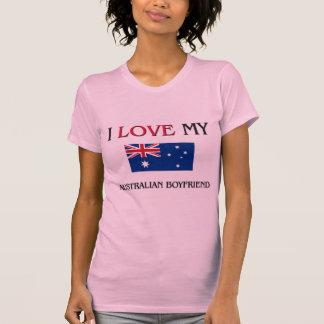 I Love My Australian Boyfriend Tee Shirt