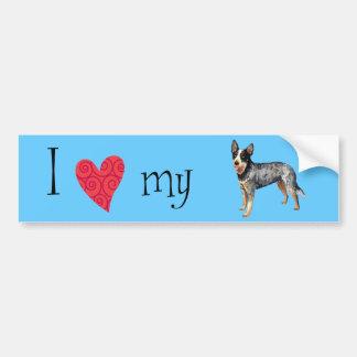 I Love my Australian Cattle Dog Car Bumper Sticker