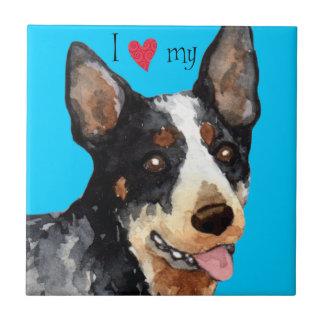 I Love my Australian Cattle Dog Ceramic Tile