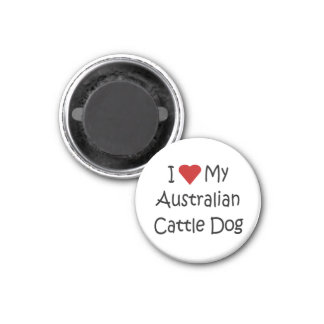 I Love My Australian Cattle Dog Gifts and Apparel Fridge Magnets