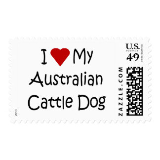 I Love My Australian Cattle Dog Gifts and Apparel Stamp