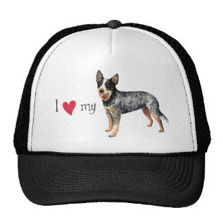 I Love my Australian Cattle Dog Mesh Hats