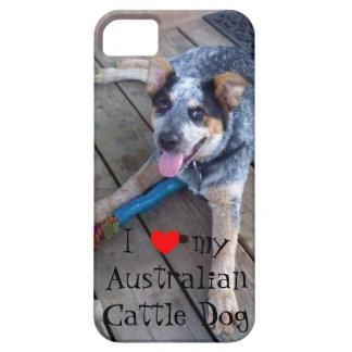 """I love my Australian cattle dog"" iPhone 5 case"