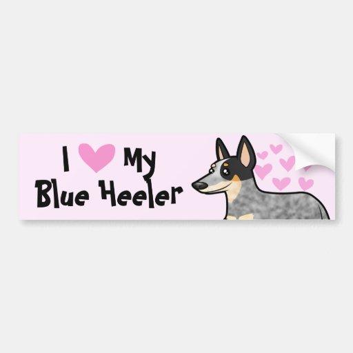 I Love My Australian Cattle Dog / Kelpie Bumper Sticker