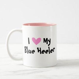 I Love My Australian Cattle Dog / Kelpie Two-Tone Coffee Mug