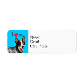 I Love my Australian Cattle Dog Label