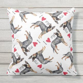I Love my Australian Cattle Dog Outdoor Pillow