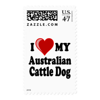 I Love My Australian Cattle Dog Postage