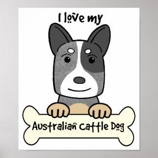 I Love My Australian Cattle Dog Poster