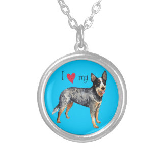 I Love my Australian Cattle Dog Silver Plated Necklace
