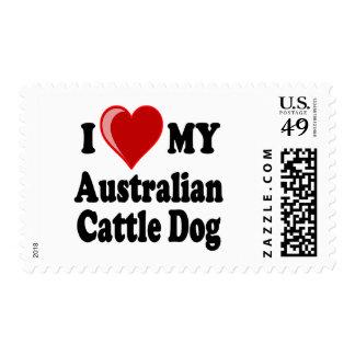 I Love My Australian Cattle Dog Stamp