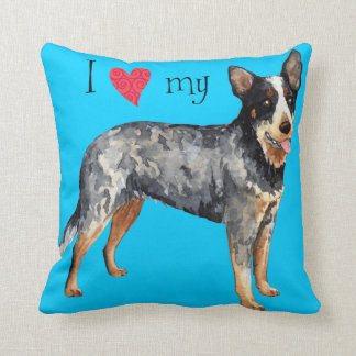 I Love my Australian Cattle Dog Throw Pillow