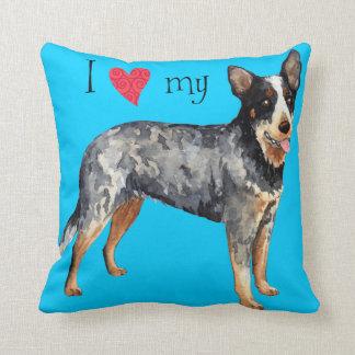 I Love my Australian Cattle Dog Throw Pillow