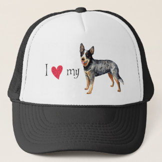 I Love my Australian Cattle Dog Trucker Hat