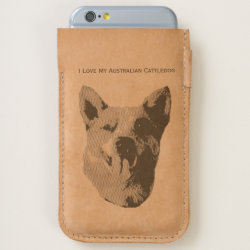 iPhone 7 and iPhone 6/6s Case with Australian Cattle Dog Phone Cases design