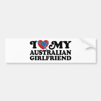 I Love My Australian Girlfriend Bumper Sticker