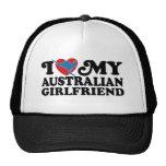 I Love My Australian Girlfriend Mesh Hats