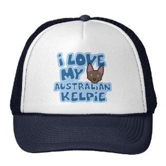 I Love My Australian Kelpie Hat