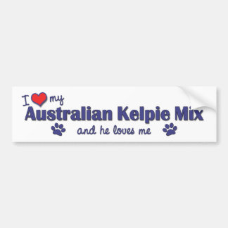 I Love My Australian Kelpie Mix (Male Dog) Bumper Sticker