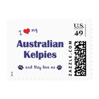I Love My Australian Kelpies (Multiple Dogs) Postage Stamp