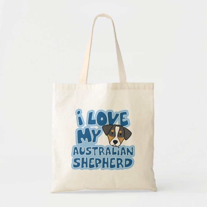 I Love My Australian Shepherd Bag