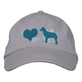 I Love my Australian Shepherd Blue Embroidered Hat