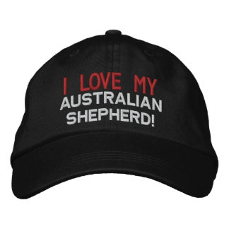 I Love My Australian Shepherd Dog Embroidered Baseball Hat