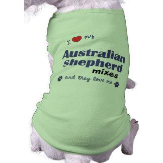 I Love My Australian Shepherd Mixes (Multi Dogs) T-Shirt
