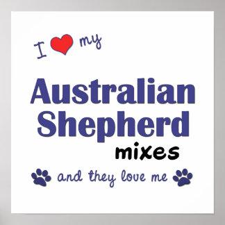 I Love My Australian Shepherd Mixes (They) Poster