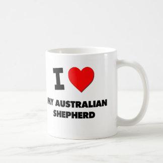 I Love My Australian Shepherd Mugs
