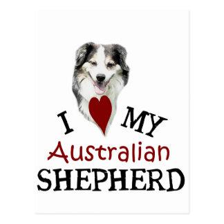 I love my Australian Shepherd Postcard