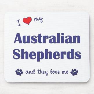 I Love My Australian Shepherds (Many Dogs) Mouse Pad