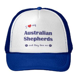 I Love My Australian Shepherds (Many Dogs) Trucker Hat