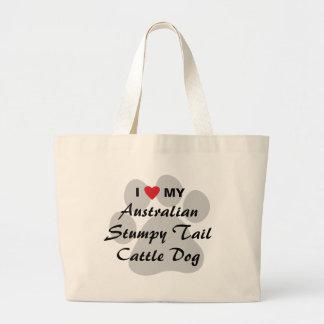 I Love My Australian Stumpy Tail Cattle Dog Bags