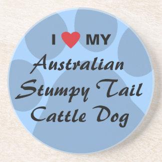 I Love My Australian Stumpy Tail Cattle Dog Drink Coaster