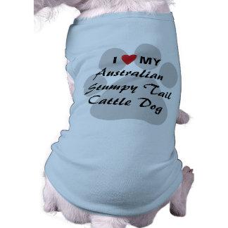 I Love My Australian Stumpy Tail Cattle Dog Dog Shirt