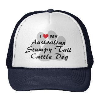 I Love My Australian Stumpy Tail Cattle Dog Trucker Hats