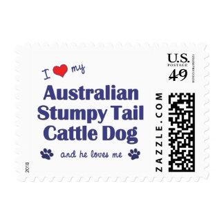 I Love My Australian Stumpy Tail Cattle Dog (Male) Stamps