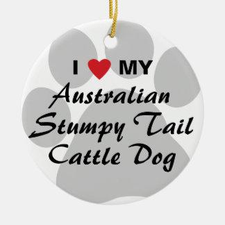 I Love My Australian Stumpy Tail Cattle Dog Christmas Ornament