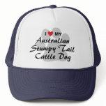 I Love My Australian Stumpy Tail Cattle Dog Trucker Hat