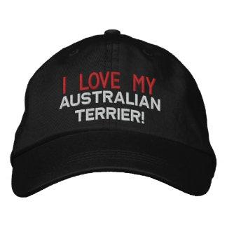 I Love My Australian Terrier Dog Embroidered Baseball Hat