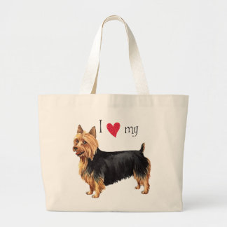 I Love my Australian Terrier Large Tote Bag