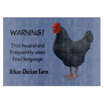 I Love My Australorp Chicken Cutting Board