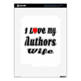 I love my Authors wife iPad 3 Skin