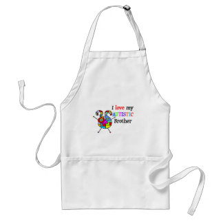 I Love My Autistic Brother Aprons