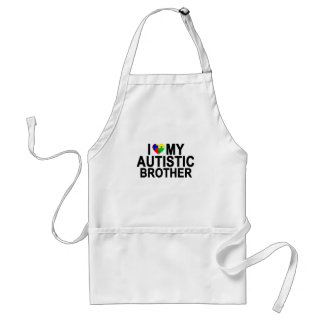I Love My Autistic Brother '.png Adult Apron