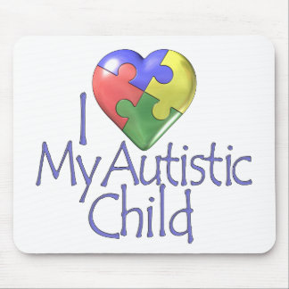I Love My Autistic Child Mouse Pad